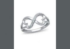 Forever Heart , 10K White Gold and Diamond Accent