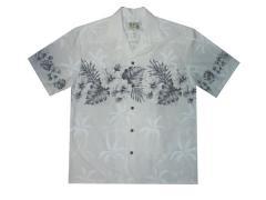 Men's Black and White Hawaiian Shirts