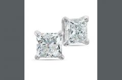 Passion Stone, 14K White Gold Diamond Earrings