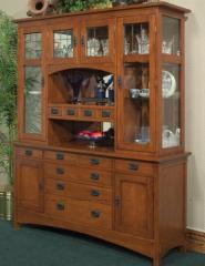 Mission 4-Bay Sideboard & Sideboard Hutch