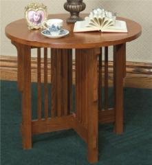 Mission Round Lamp Table