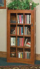 Mission Single Door Bookcase