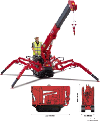 UNIC 094 is the smallest spider crane