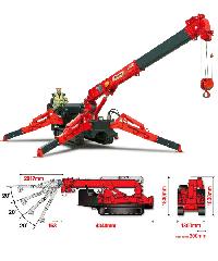 URW-376 UNIC mini crane