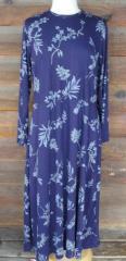 Long print knit dress
