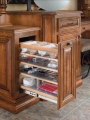 Cabinet Pullout Organizer with Wood Adjustable