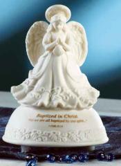 Baptism Angel Musical Figurine
