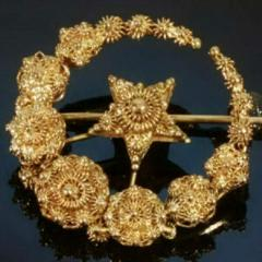 Golden brooches
