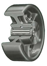 Roller bearing wheels