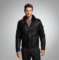Aviator Jacket With Detachable Toscana Fur Collar