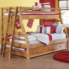 Creekside Twin/Full Bunk Bed w/ Trundle and Ladde