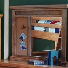 Rustic Rectangular Corkboard Landscape Dresser