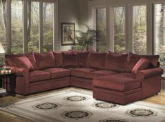 Upholstered Rolled Arm Sectional
