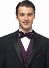 Men's duchess satin bow tie