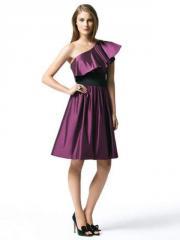 Strapless one shoulder short dress