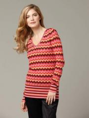 Multi Stripe V-Neck pullover