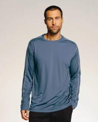 Men's Long Sleeve Stitched Edge T-Shirt