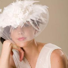 Wedding hats with veils