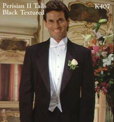 Perisian II Black Textured Tuxedos k407