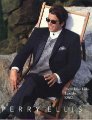 Perry Ellis Designer Black Suit k902