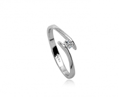 Crystal Diamond Inlaid Aesthetic Ring