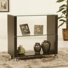 Home Accents Small Castered Glass Bookcase