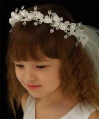 Flower veils for child
