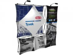 Snap-On Fabric Pop-up Display