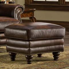 Maxwell Leather Ottoman