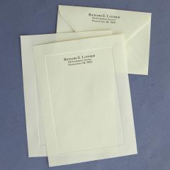 Embossed Border Stationery envelopes