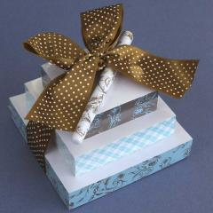 Chocolate Toile Gift Tower boxes