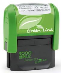Green Line Small Return Address Stamp