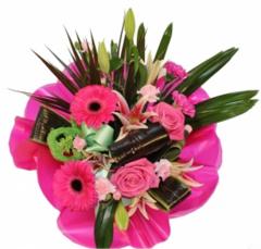 Stunning Hand-tie In Pink Bouquet