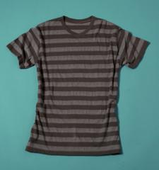 Mens Striped V-neck Tee