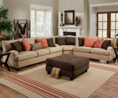Casual 3 Piece Sectional Sofa