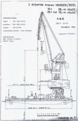 2 X Hensen/Boel Floating Cranes