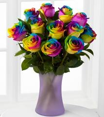 Time to Celebrate Rainbow Rose Bouquet BD19