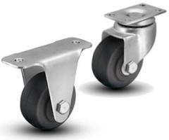 1 Series Small Top Plate Swivel & Rigid Casters