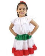 Girls Mexican Dress 3 Colors