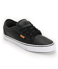 Vans Chukka Black Peforated Leather Shoe
