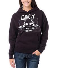 Obey Wasted Youth Blackberry Purple Pullover
