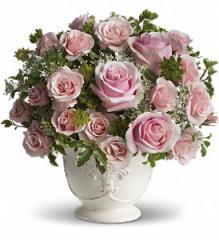 Teleflora's Parisian Pinks with Roses Flowers