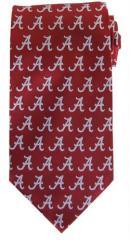 Alabama Tie - Alabama Necktie Crimson A Logo