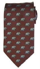 Crimson Al Pattern Necktie