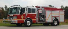 Top Mount Pumper Fire Truck