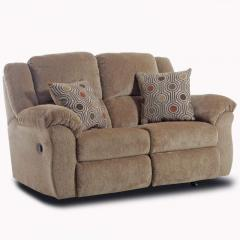 Upholstered Double Reclining Rocking Loveseat
