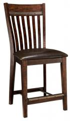 "Hayden 24"" Slat Back Bar Stool"