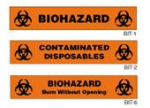 Biohazard Tapes and Labels