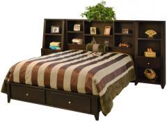 Urban Loft Queen Bookcase Bed