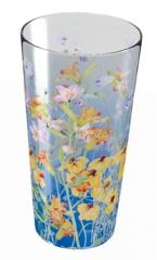 Wildflower Medium Blue Glass Vase